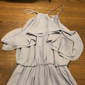 ⭐️Lush Nordstrom Periwinkle Ruffle Halter Dress S